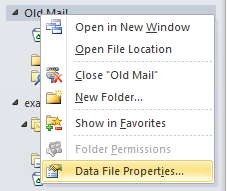 Local folder properties